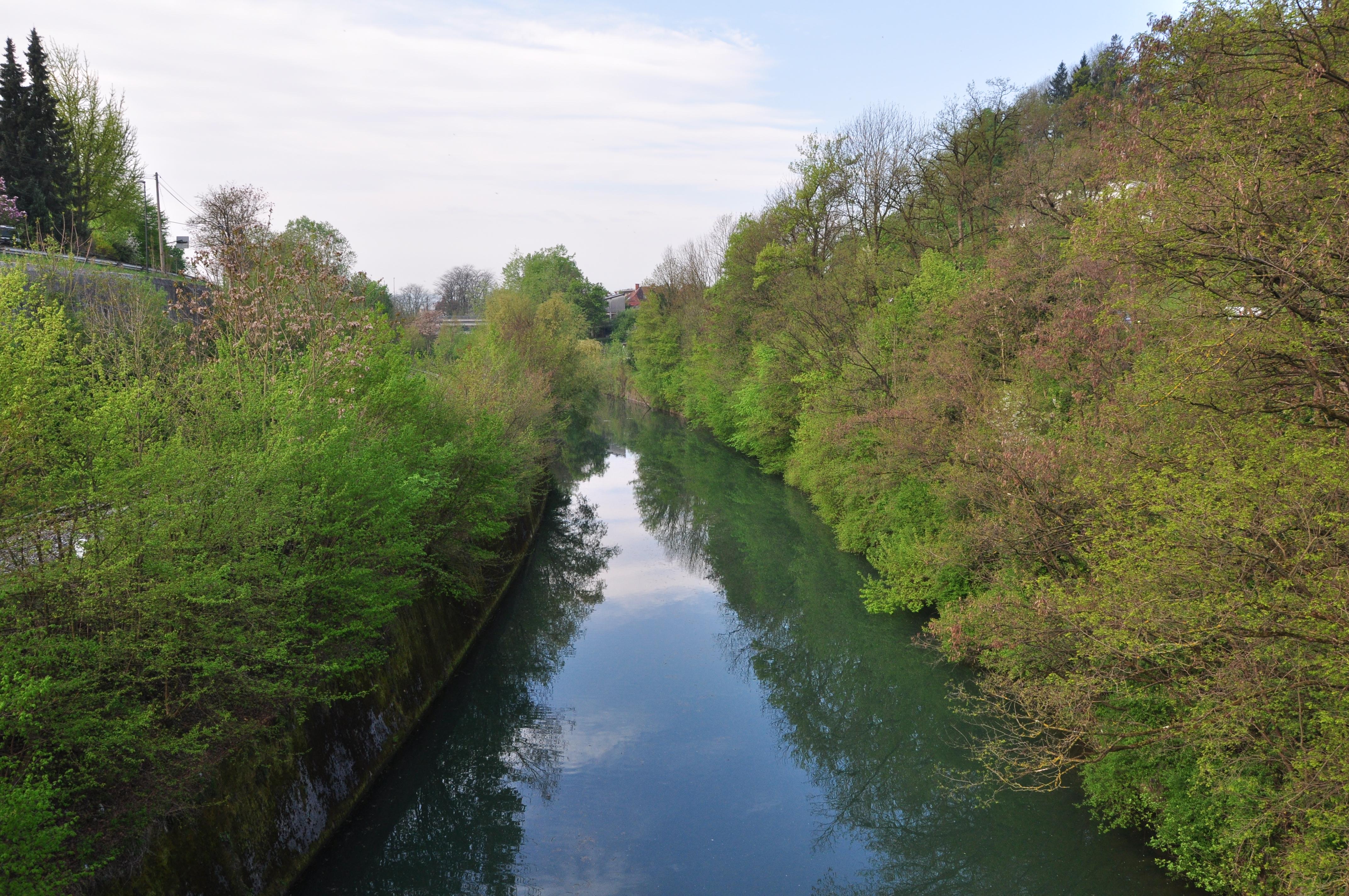 DSC_0340 V Gruberjev prekop ujeta Ljubljanica